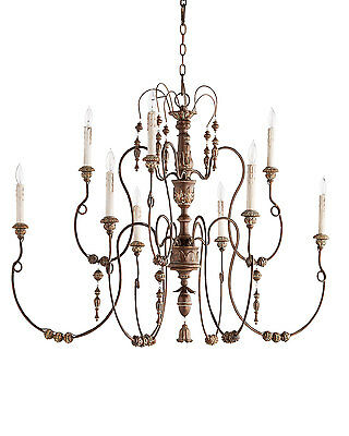 Horchow French Aidan Gray Look Vintage Copper Bead Chandelier $1100
