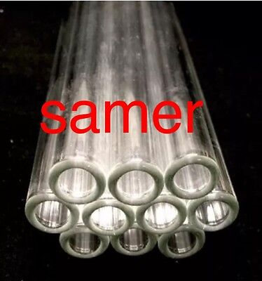 "12 mm OD 8mm ID  Pyrex Glass Blowing Tubing (10) Pces CLEAR  8 "" LONG"