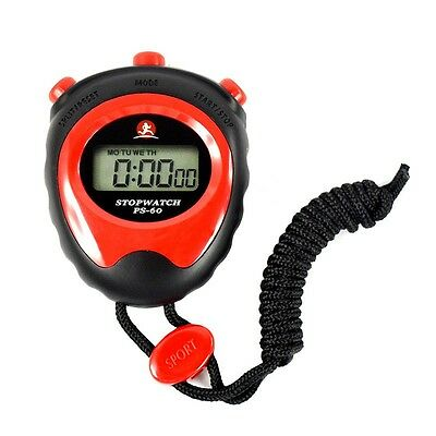 Stopwatch Stop Watch Digital LCD Professional Chronograph Timer Counter Sports