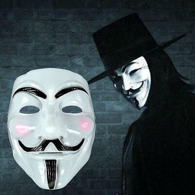 Anonymous V for Vendetta Film Guy Fawkes Face Mask Halloween Cosplay Fancy