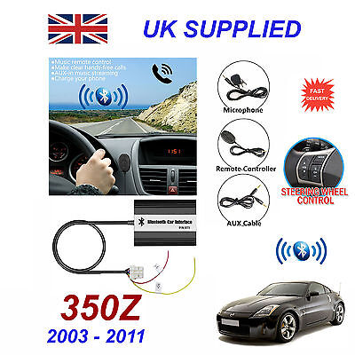 For Nissan 350Z Bluetooth Hands Free Phone AUX Input MP3 USB 1.0A Charger Module