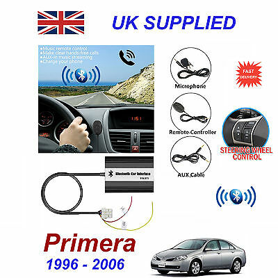 ForNissan Primera Bluetooth Hands Free Phone AUX Input MP3 USB 1A Charger Module