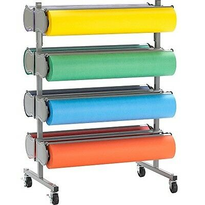 "Bulman R398-D-48 48"" Horizontal Tower 8 Roll Deluxe Paper Rack - Unassembled"