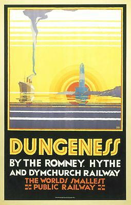Dungeness Kent (old rail ad.) fridge magnet (se)