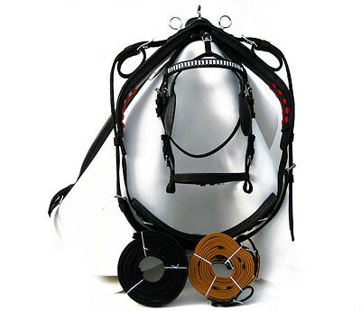 Top Quality Nylon Driving Harness For Single Horse Black Color In Full Size