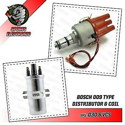 009 Distributor Bosch Powerspark Electronic Distributor & Viper Dry Sports Coil