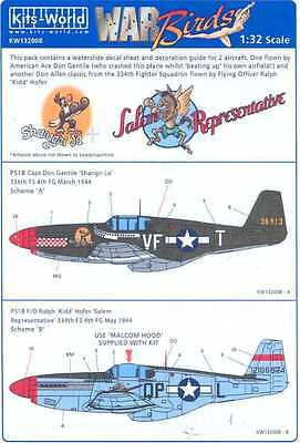NEW 1:48 Kits World Decals 48181 North-American P-51B Mustang /& /'My Achin Back'