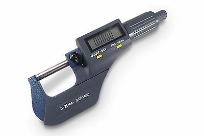 "Electronic Digital Micrometer 0-1"" / 0-25 mm SAE Metric .00005 Resolution TayToo"