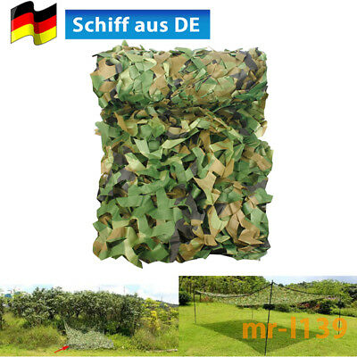 2m x 3m Camouflage Jagd Tarnnetz Bundeswehr Armee Army Tarnung Camo Camping