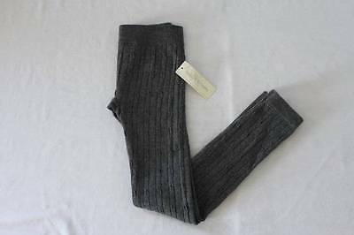 NEW Girls Leggings Size XS - Small Cable Knit Gray Stretch Pants XS-S School