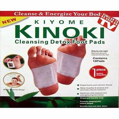 Kinoki Detox Foot Patches Pads Body Toxins Feet Slimming Cleansing (PK of 10)