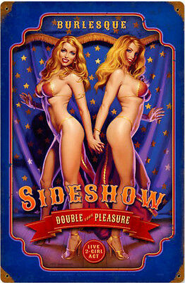 Side Show  Metal Sign ( Greg Hildebrandt )