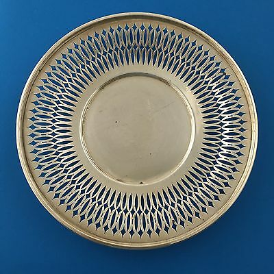 """Antique Alvin 9"""" Reticulated Cake Plate Sterling Silver Candy Tray"""