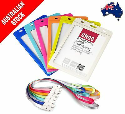 1pc Lanyard Neck Strap ID Card Business Office Card Exhibition Badge Holder