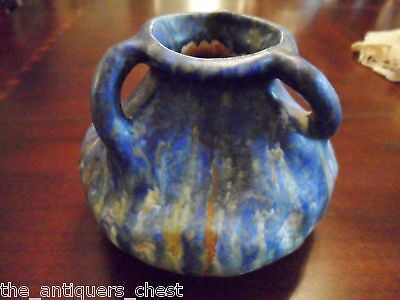 Vintage Hand crafted Bretby England three handle Contemporary Pottery Vase [*]