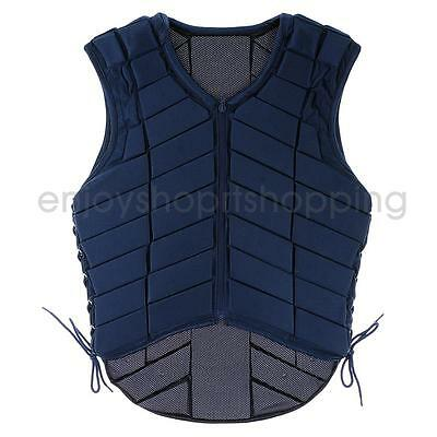EVA Padded Safety Horse Riding Vest Equestrian Body Protector Navy Youth Adult