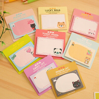 5Pcs/set Cute Cartoon Post-It Sticker Bookmark Marker Memo Flags Sticky Notes