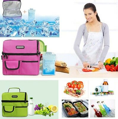 Travel Outdoor Student Cool Thermal Waterproof Lunch Insulated Bag Container