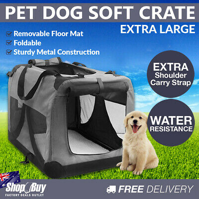 XL Pet Soft Cage Puppy Dog Cat Collapsible Crate Carrier Foldable Kennel Grey