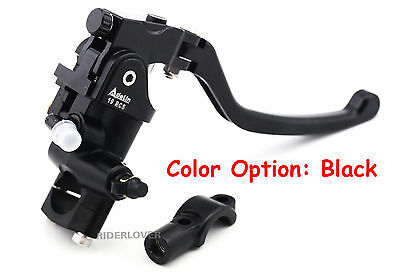 Universal Motorcycle Front Brake Master Cylinder (19mm Bore) with Bar Clamp