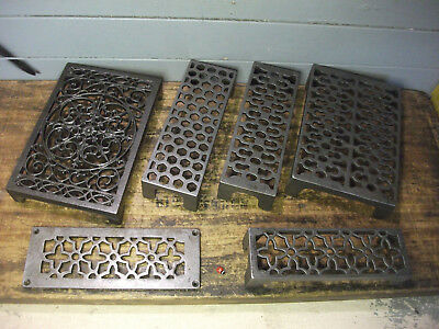 Quality Cast Iron air Brick Vent Victorian - ornate - metric - honeycomb cover