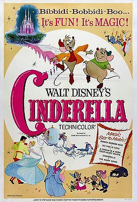 """""""CINDERELLA"""" 2 ..Classic 1950 Animated Movie Poster A1 A2 A3 A4Sizes"""