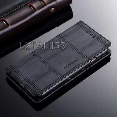 Luxury Magnetic Wallet Flip PU Leather Case Cover For iPhone & Samsung Galaxy