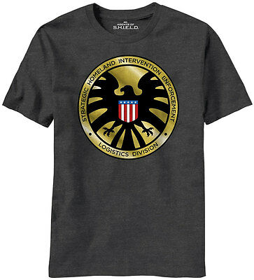 Agents Of Shield Madallion Logo Marvel Comics T-shirt - Officially Licensed