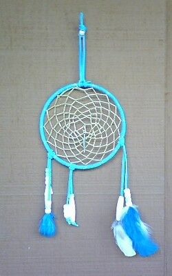 Dream catcher native American decorative beaded and feathered