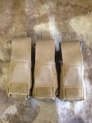 LBT MOLLE Triple Pistol 9MM Mag Pouch Coyote New