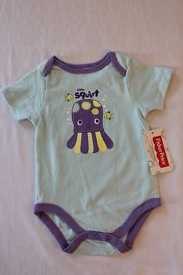 NEW Baby Boys Bodysuit 0-3 Months Frog Creeper Outfit 1 Piece Infant Fish Ahoy