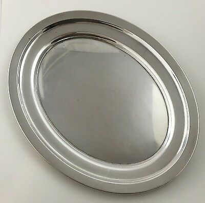 1919 Whiting Sterling Silver 9.5x12 Oval Serving Platter Art Deco Waiters Tray