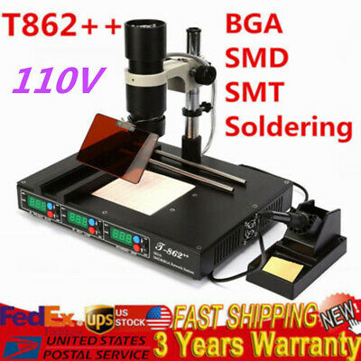 110V T862++ IR BGA Rework Station Infrared Soldering Repair Machine Soldering