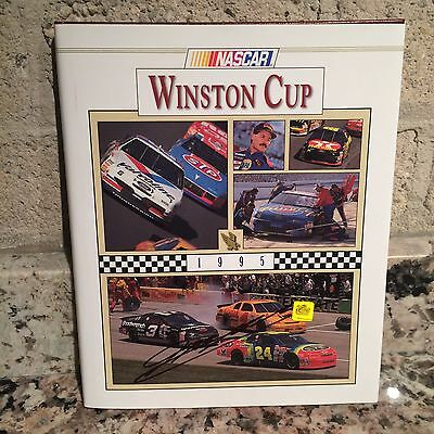 Autographed 1995 NASCAR Yearbook, Signed by Jeff Gordon