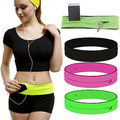 Belly Waist Bum Bag Fitness Running Jogging Cycling Belt Pouch Sports Fanny Pack