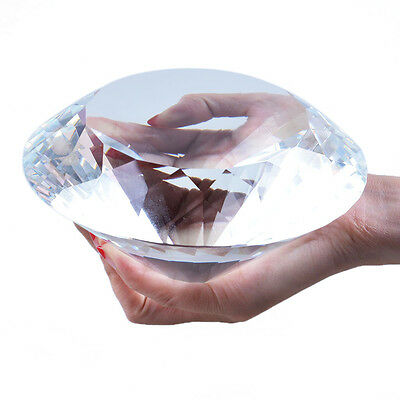 LS Big 150MM Crystal Diamond Paperweight Wedding Venue Decorations Gift Packing