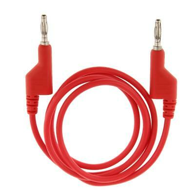 1m Copper 25A 4mm Test Lead Plug to Plug Banana Patch Cable Red