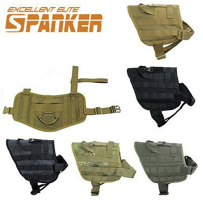 M L Tactical Military Army Police Molle Dog Vest Harness Canine Training Vest