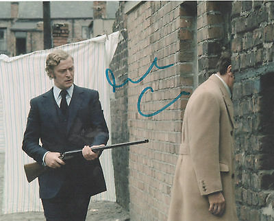 GET CARTER personally signed 10x8 - MICHAEL CAINE (blue sharpie)