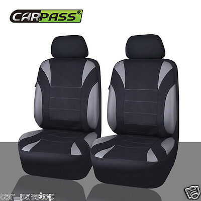 Universal Two Front NEOPRENE Car Seat Cover Set Airbag Fit Breathable waterproof