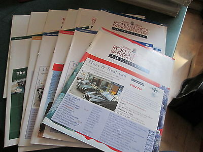 Rolls Royce Enthusiasts Club Advertiser Magazine 2003 12 Issues