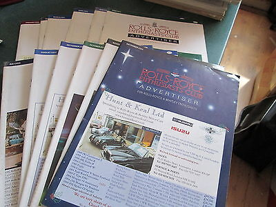 Rolls Royce Enthusiasts Club Advertiser Magazine 2004 - 12 Issues