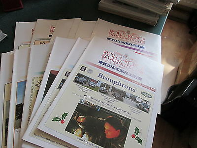 Rolls Royce Enthusiasts Club Advertiser Magazine 2001- 12 Issues