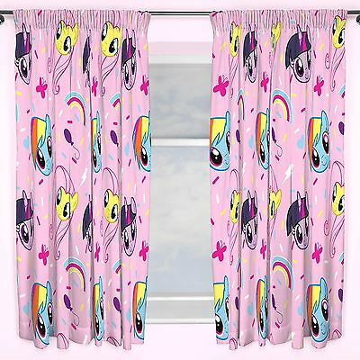 "My Little Pony Pink Equestria 66"" X 72"" Curtains Kids Bedroom Official New"