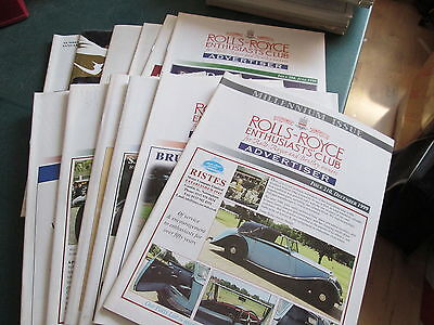 Rolls Royce Enthusiasts Club Advertiser Magazine 1999 - 12 Issues