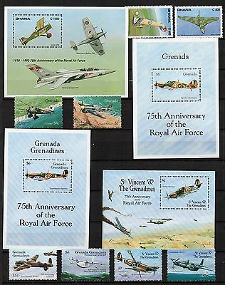 AIRCRAFT AVIATION Thematic STAMP Collection GHANA GRENADA ST.VINCENT Ref:TH682