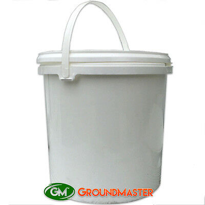 GroundMaster™ 5L Litre White Plastic Storage Bucket with Lid & Handle Airtight