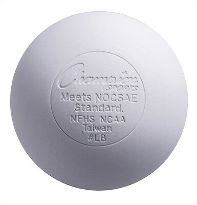 Champion Sports Official Lacrosse Game Balls NOCSAE SEI-pack of 12-white