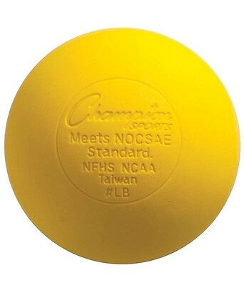 Champion Sports Official Lacrosse Game Balls NOCSAE SEI-pack of 12-Yellow