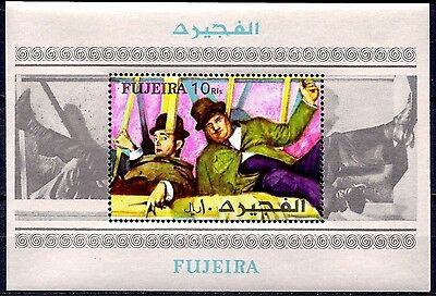 Fujeira 1972 Stan Laurel, Oliver Hardy Actors Cinema Movies Comedy m/s MNH